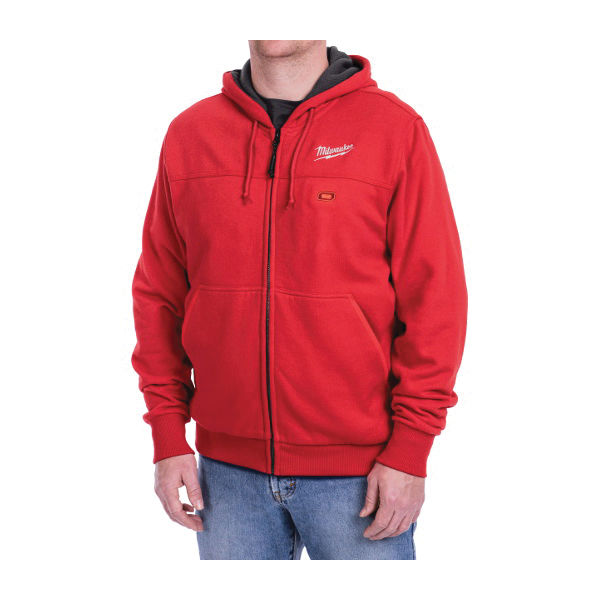 Milwaukee® 301R-21L M12™ Heated Hoodie Kit, L, Red, Cotton/Polyester Blend Outer, 42 to 44 in Chest