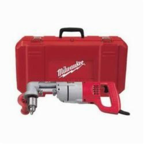 Milwaukee® 3102-6 Grounded Plumbers Right Angle Drill Kit, 1/2 in Keyed Chuck, 120 VAC, 500 rpm, 16-3/4 in OAL
