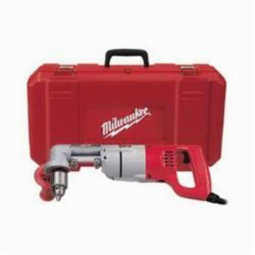 Milwaukee® 3107-6 Grounded Right Angle Drill Kit, 1/2 in Keyed Chuck, 120 VAC, 0 to 500 rpm, 16-3/4 in OAL