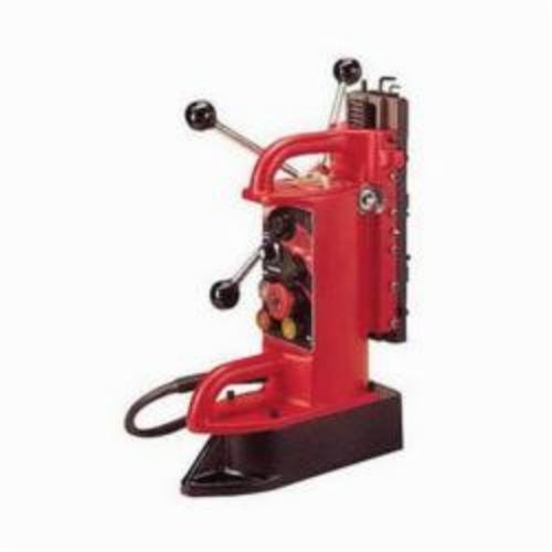 Milwaukee® 4202 Electromagnetic Fixed Position Portable Drill Press Base, For Use With 1/2 in and Thicker Flat Ferrous Material, 3/4 in Chuck, Steel, 9 in D Drill