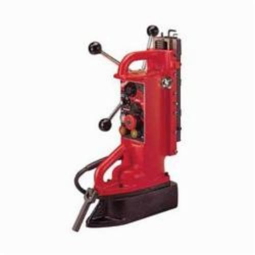 Milwaukee® 4203 Adjustable Position Portable Electromagnetic Drill Press Base, For Use With 1/2 in and Thicker Flat Ferrous Material, 1 in Chuck, Steel, 11 in D Drilling