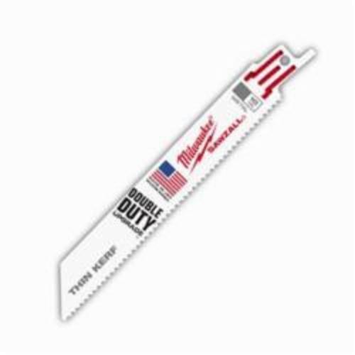 Milwaukee® 48-01-6092 Sawzall® Double Duty Straight Back Thin Kerf Reciprocating Saw Blade, 6 in L x 3/4 in W, 10, Bi-Metal Body, Universal Tang
