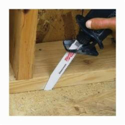 Milwaukee® 48-01-7701 Demolition Reciprocating Saw Blade, 6 in L x 1 in W, 8, Bi-Metal Body, Universal/Toothed Edge Tang