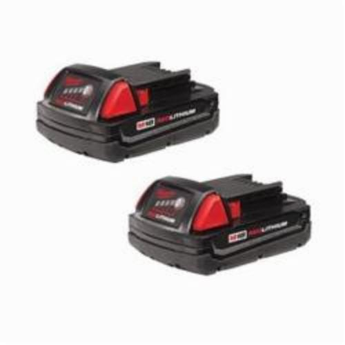 Milwaukee® M18™ 48-11-1811 Compact Rechargeable Cordless Battery Pack, 1.5 Ah Lithium-Ion Battery, 18 VDC Charge, For Use With Milwaukee® M18™ Cordless Power Tool
