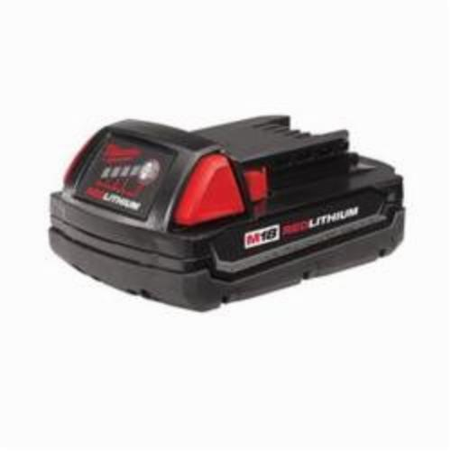 Milwaukee® M18™ REDLITHIUM™ 48-11-1815 Compact Rechargeable Cordless Battery Pack, 1.5 Ah Lithium-Ion Battery, 18 VDC Charge, For Use With Milwaukee® M18™ Cordless Power Tool