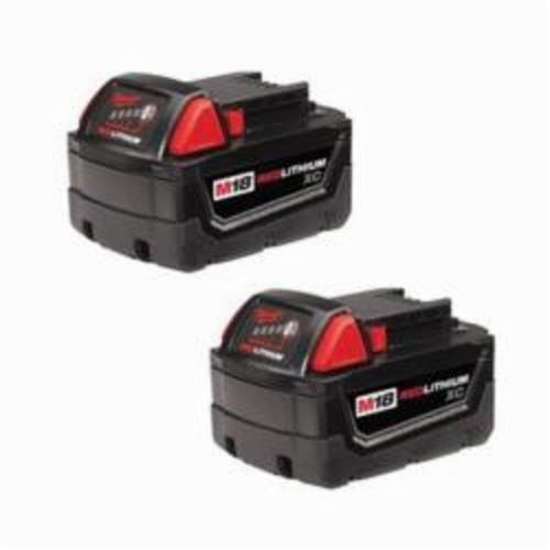 Milwaukee® 48-11-1822 M18™ Rechargeable Cordless Battery Pack, 3 Ah Lithium-Ion Battery, 18 VDC, For Use With Milwaukee® M18™ Cordless Power Tool