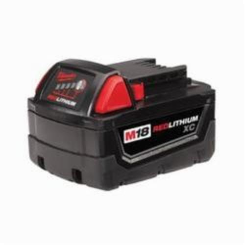 Milwaukee® 48-11-1828 M18™ REDLITHIUM™ High Capacity Rechargeable Cordless Battery Pack, 3 Ah Lithium-Ion Battery, 18 VDC, For Use With Milwaukee® M18™ Cordless Power Tool