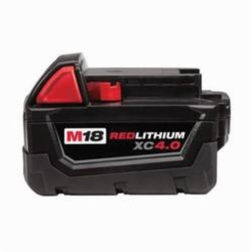 Milwaukee® 48-11-1840 M18™ REDLITHIUM™ Rechargeable Cordless Battery Pack, 4 Ah Lithium-Ion Battery, 18 VDC, For Use With Milwaukee® M18™ Cordless Power Tool