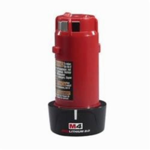 Milwaukee® 48-11-2001 M4™ Battery Pack, 2 Ah Lithium-Ion Battery, 4 VDC, For Use With 34G857 Battery Charger, 34G853 Cordless Screwdriver, 34G854 Cordless Screwdriver Kit and 34G855 Cordless Screwdriver Kit