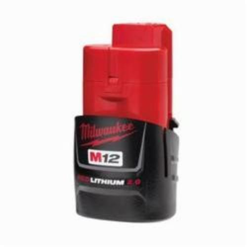 Milwaukee® M12™ REDLITHIUM™ 48-11-2420 Compact Rechargeable Cordless Battery Pack, 2 Ah Lithium-Ion Battery, 12 VDC Charge, For Use With Milwaukee® M12™ Cordless Power Tool