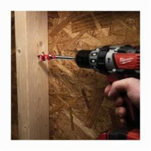 Milwaukee® 48-13-0068 Speed Feed™ Self-Feed Wood Bit, 3/4 in Dia, 6-1/2 in OAL, 3 in L Back Tapered Flute, 1/4 in Shank