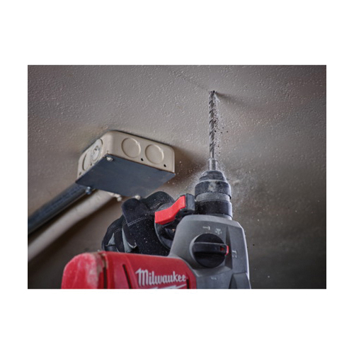 Milwaukee® 48-20-7499 MX4™ Rotary Hammer Drill Set, Imperial, 3/16 in Min Drill Bit, 5/8 in Max Drill Bit, 6 Pieces, Carbide/Steel