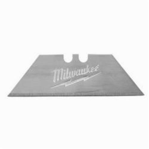 Milwaukee® 48-22-1900 100-Piece General Purpose Utility Blade With Dispenser, Micro Carbide Metal, Sharp Point/Straight Edge, 2-3/8 in L x 3/4 in W Blade, Compatible With: Milwaukee® Most Standard Utility Knives, 0.025 in THK