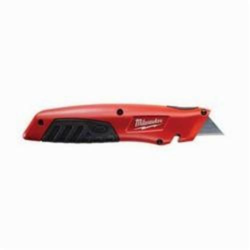 Milwaukee® 48-22-1910 Sliding Utility Knife, Double Edge Retractable Blade, Carbon Steel Blade, 5 Blades Included, 7-1/4 in OAL