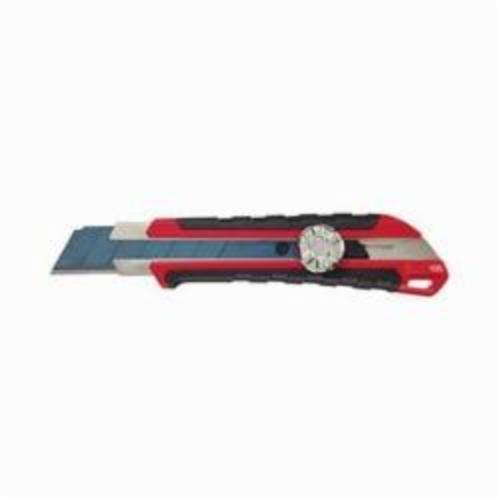 Milwaukee® 48-22-1962 Utility Knife With Metal Lock, 25 mm W Precision Cut Retractable Snap-Off Blade, Micro Carbide Blade, 1 Blade Included, 7 in OAL