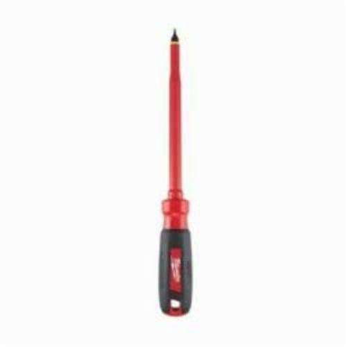 Milwaukee® 48-22-2222 Screwdriver, 5/16 in Slotted Point, Steel Shank, 11 in OAL, Plastic/Rubber Handle, ASTM F1505-10