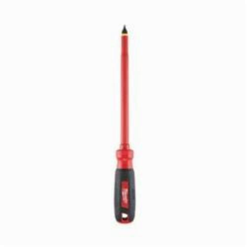 Milwaukee® 48-22-2223 Screwdriver, 3/8 in Slotted Point, Steel Shank, 12 in OAL, Plastic/Rubber Handle, ASTM F1505-10