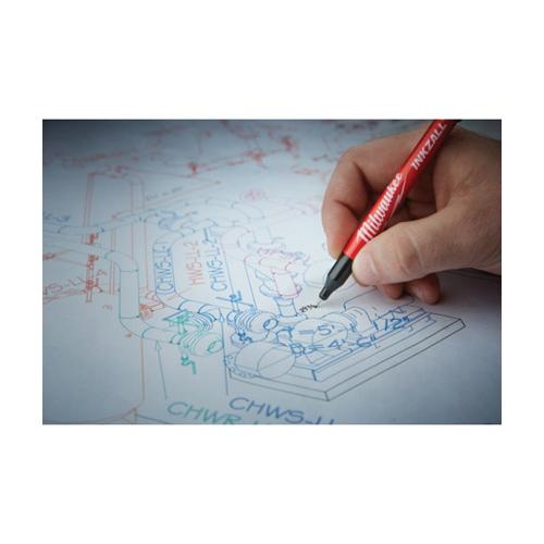 Milwaukee® 48-22-3162 INKZALL™ Point Pen, 0.5 mm Ultra Fine Tip, Plastic, Blue