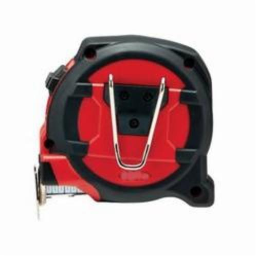 Milwaukee® 48-22-5309 Non-Magnetic Measuring Tape With Belt Clip, 8 m L x 1-1/16 in W Blade, Steel, Metric, 1 mm