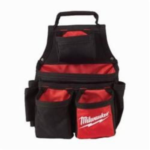 Milwaukee® 48-22-8121 Carpenters Pouch, 1680D Ballistic Nylon, Black/Red