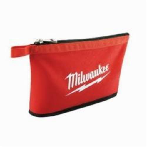Milwaukee® 48-22-8193 Heavy Duty Zipper Pouch, #10 Canvas, Black/Red