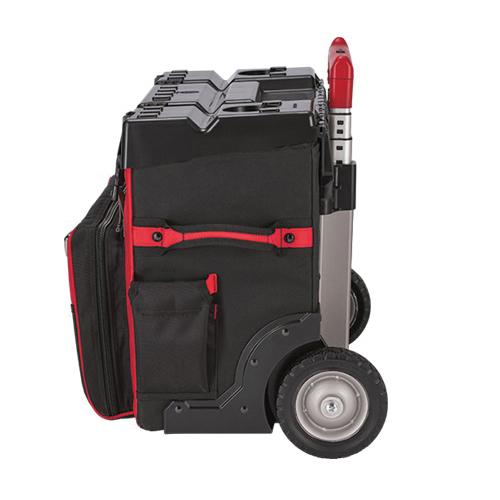 Milwaukee® 48-22-8220 General Purpose Hardtop Rolling Bag, 1680 Denier Ballistic Polyester, Red/Black