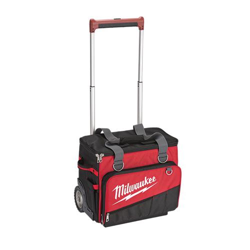 Milwaukee® 48-22-8221 General Purpose Jobsite Rolling Bag, 1680 Denier Ballistic Polyester, Red/Black