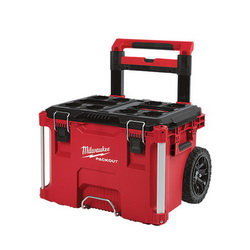 Milwaukee® PACKOUT™ 48-22-8426 Waterproof Rolling Tool Box, 18.9 in H x 25.6 in W x 22.1 in D