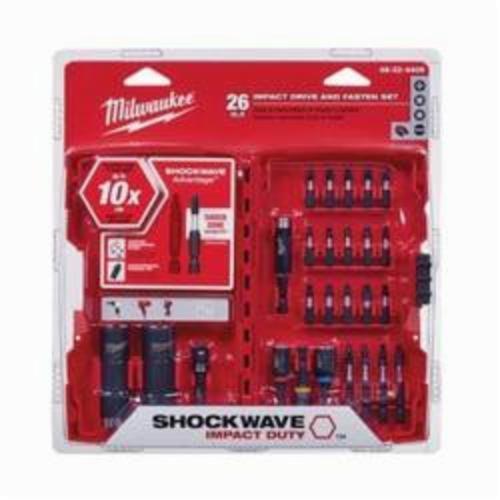 Milwaukee® 48-32-4408 SHOCKWAVE™ Drive and Fasten Set, 1/4 in, Steel