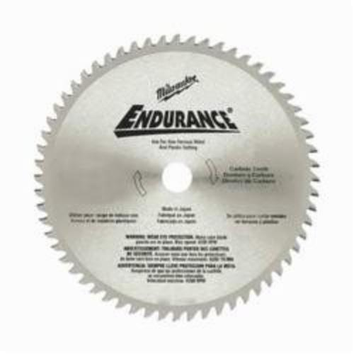 Milwaukee® 48-40-4005 Endurance® Circular Saw Blade, 6-1/2 in Dia x 0.051 in THK, 5/8 in Arbor, Alloy Steel Blade, 60 Teeth