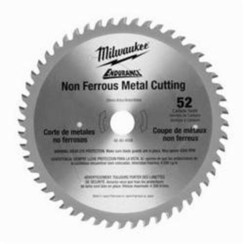 Milwaukee® 48-40-4006 Endurance® Circular Saw Blade With Diamond Knockout, 6-7/8 in Dia x 0.051 in THK, 20 mm Arbor, Alloy Steel Blade, 52 Teeth