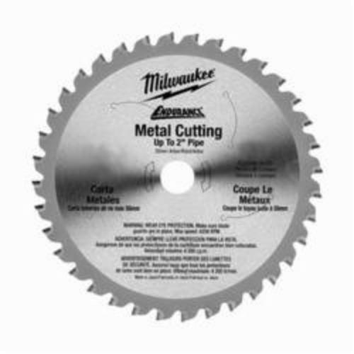 Milwaukee® 48-40-4016 Endurance® Thin Kerf Circular Saw Blade, 6-7/8 in Dia x 0.051 in THK, 20 mm Arbor, Alloy Steel Blade, 36 Teeth