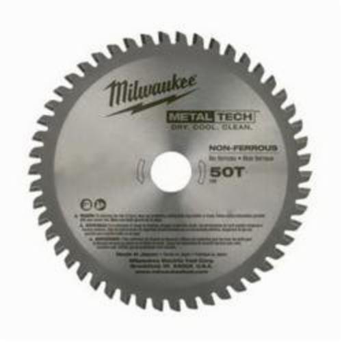 Milwaukee® 48-40-4075 MetalTech™ Circular Saw Blade, 5-3/8 in Dia x 0.05 in THK, 20 mm Arbor, Alloy Steel Blade, 50 Teeth