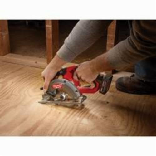 Milwaukee® M12™ FUEL™ 2530-20 Cordless Circular Saw, 5-3/8 in, 5-1/2 in Blade, 10 mm Arbor/Shank, 12 VDC, 1-1/8 in, 1-5/8 in D Cutting, Lithium-Ion Battery, Bare Tool