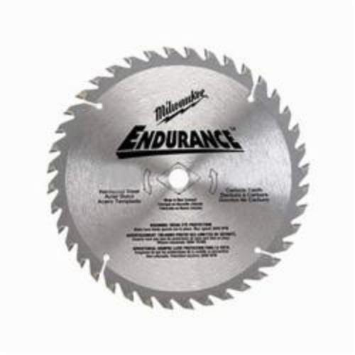 Milwaukee® 48-40-4150 Endurance® Combination Thin kerf Circular Saw Blade With Diamond Knockout, 8-1/4 in Dia x 0.051 in THK, 5/8 in Arbor, Alloy Steel Blade, 24 Teeth
