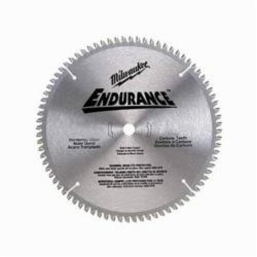 Milwaukee® 48-40-4168 Endurance® Regular Kerf Circular Saw Blade, 10 in Dia x 0.071 in THK, 5/8 in Arbor, Hardened Alloy Steel Blade, 80 Teeth