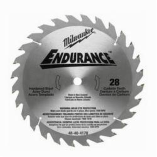 Milwaukee® 48-40-4170 Endurance® Combination Regular Kerf Circular Saw Blade, 10-1/4 in Dia x 0.079 in THK, 5/8 in Arbor, Alloy Steel Blade, 28 Teeth
