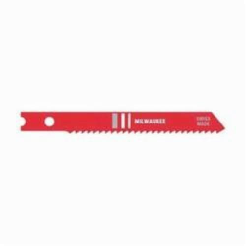 Milwaukee® 48-42-0101 Heavy Duty Jig Saw Blade, 2-3/4 in L x 9/32 in W, 14, HSS Cutting Edge, HSS Body