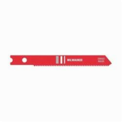 Milwaukee® 48-42-0140 Heavy Duty Jig Saw Blade, 2-3/4 in L x 9/32 in W, 24, HSS Cutting Edge, HSS Body