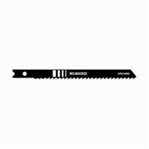 Milwaukee® 48-42-0220 General Purpose Heavy Duty Jig Saw Blade, 4 in L x 9/32 in W, 8, High Carbon Steel Cutting Edge, High Carbon Steel Body