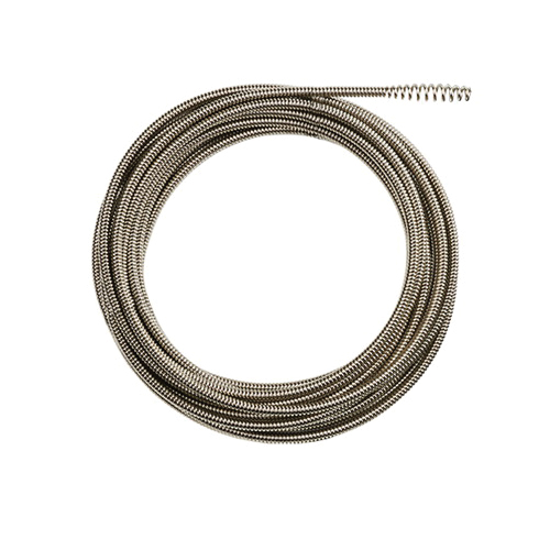 Milwaukee® 48-53-2671 Inner Core Bulb Head Drain Cleaning Cable, 1/4 in x 35 ft, For Use With Drain Cleaning Machines, 1-1/4 to 2-1/2 in Drain Line, Steel, 1 Pieces