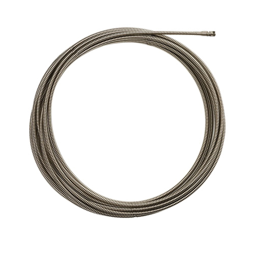 Milwaukee® 48-53-2773 Inner Core Coupling Drain Cleaning Cable, 3/8 in x 50 ft, For Use With Drain Cleaning Machines, 1-1/4 to 2-1/2 in Drain Line, Steel, 1 Pieces