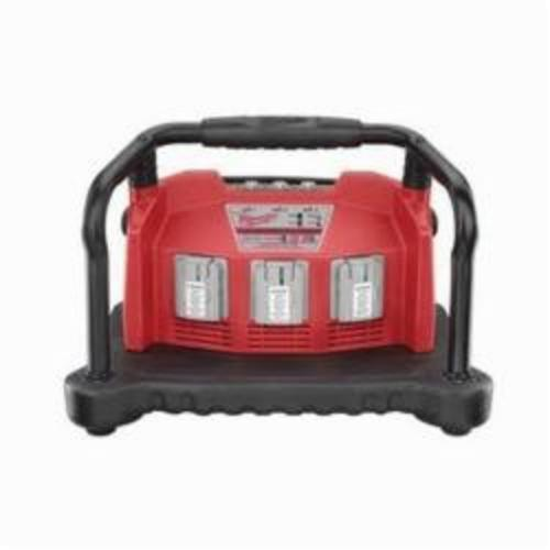 Milwaukee® 48-59-0280 M28™ Multi-Bay Universal Charger, For Use With Milwaukee® M28™ Lithium-Ion, 18 V Lithium-Ion and NiCd Battery, Lithium-Ion/NiCd Battery, 45 min NiCd/60 min Lithium-Ion Charging Time, 3 Batteries