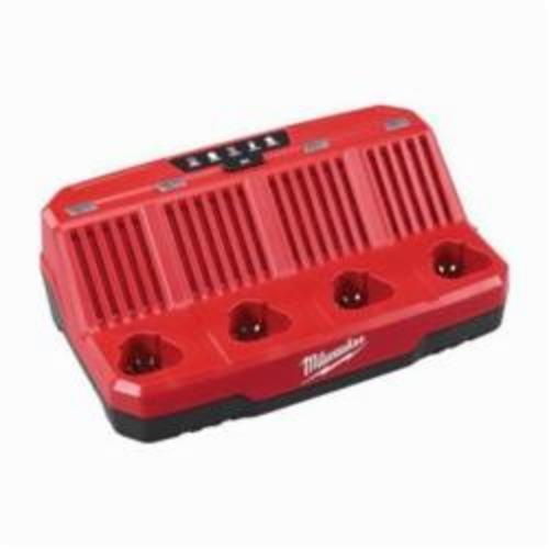 Milwaukee® 48-59-1204 M12™ 4-Bay Sequential Charger, For Use With Milwaukee® M12™ Battery, Lithium-Ion Battery, 4 Batteries