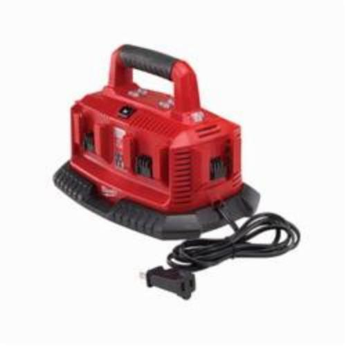 Milwaukee® 48-59-1806 M18™ 6-Pack Sequential Charger, For Use With Milwaukee® M18™ Battery, Lithium-Ion Battery, 1/2 to 1 hr Charging Time, 6 Batteries