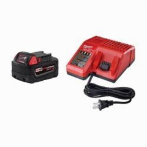 Milwaukee® M18™ 48-59-1850 Battery Starter Kit, 5 Ah, 18 VDC Charge, For Use With M18™ XC™ 5.0 Battery For Use with All Milwaukee® M18™ Tool, M18™ and M12™ Multi Voltage Charger For Use with All M18™ and M12™ Battery Pack