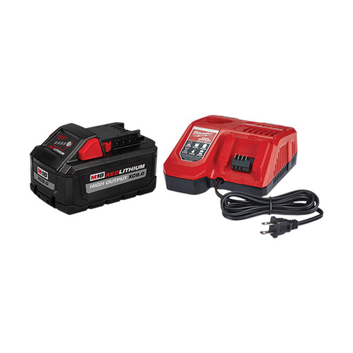 Milwaukee® 48-59-1880 Starter Kit, For Use With M18™ 18 V Cordless Tools, 8 Ah, XC™ Lithium-Ion Battery, 120 VAC