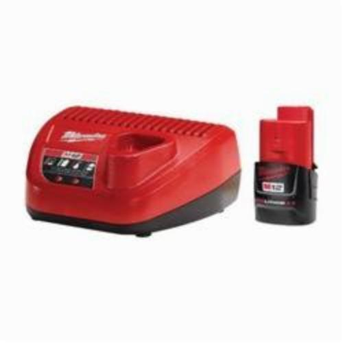 Milwaukee® 48-59-2420 M12™ 2.0 Starter Kit, Lithium-Ion Battery, 60 min Charging Time