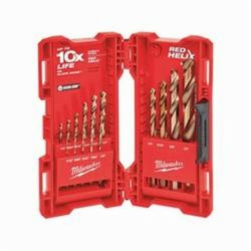 Milwaukee® 48-89-2331 RED HELIX™ Drill Bit Kit, 15 Pieces, For Use With All Twist Drill, Cobalt, Uncoated