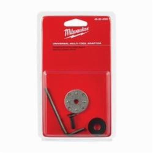 Milwaukee® 48-90-0000 M18™ Universal Multi-Tool Blade Adapter, For Use With Oscillating Tool, Porter Cable, Black and Decker and DeWalt® Brand Multi-Tool, 1/4 in ID x 3-1/4 in OD x 1/8 in THK, Steel